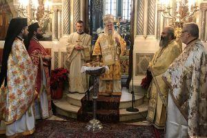 Ο Σεβ. Ελευθερουπόλεως Χρυσόστομος λειτούργησε στον Προφήτη Ηλία Παγκρατίου