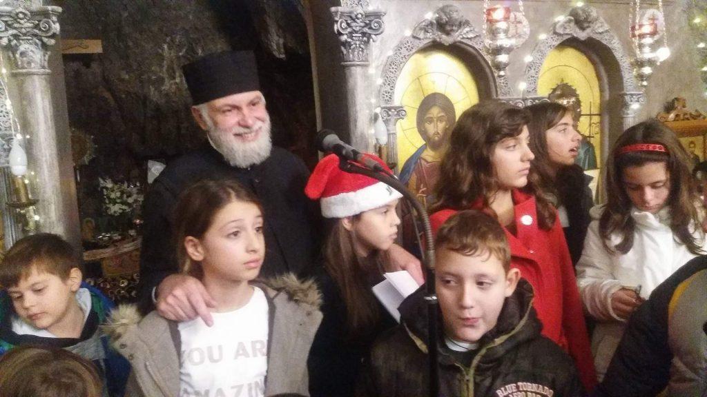 You are currently viewing Η εορτή των Χριστουγέννων και της Παναγίας του βράχου, της Αγιοισιδωρίτισσας, στον Λυκαβηττό
