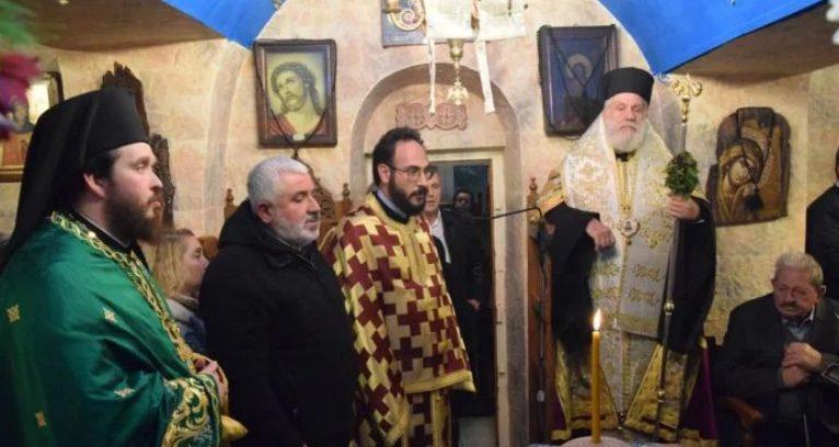 Ο Μητροπολίτης Σύρου Δωρόθεος εόρτασε τον Οσιο Πατάπιο στη Μύκονο