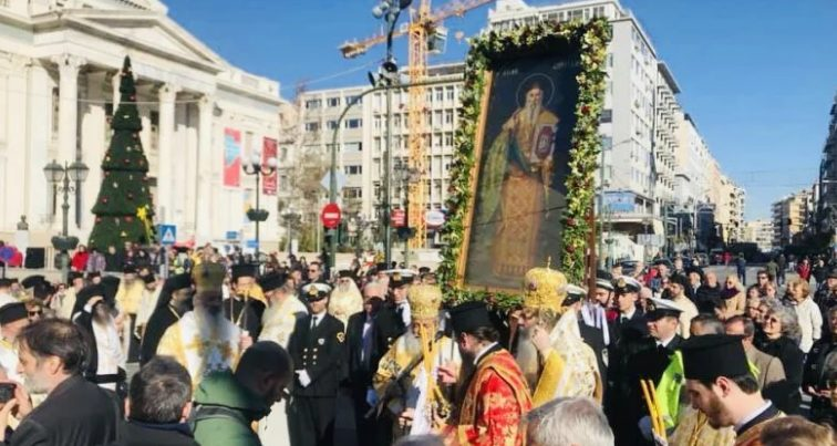 You are currently viewing Ο Πειραιάς τίμησε τον Πολιούχο του Άγιο Σπυρίδωνα-•Μεγαλοπρεπής λιτανεία