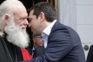 """Ο Τσίπρας αποκαλύπτει τον Αρχιεπίσκοπο Ιερώνυμο: """"Δεν κάνουμε πίσω για τη συμφωνία"""""""