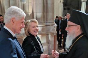 Ο Αρχιεπίσκοπος Αμερικής Δημήτριος εκπροσώπησε την Εκκλησία και την ομογένεια των ΗΠΑ, στην κηδεία του π.Προέδρου Τζορτζ Μπους