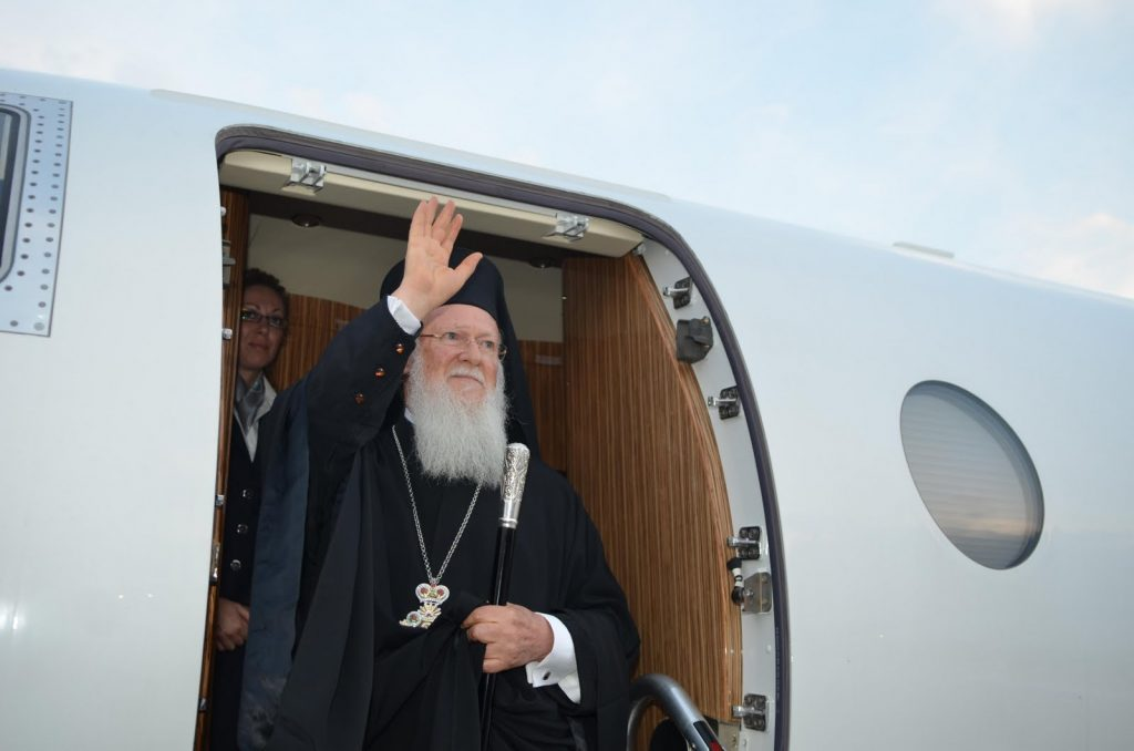 You are currently viewing Η αναχώρηση του Οικουμενικού Πατριάρχη στη Ν. Κορέα