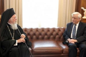 Ευχές με ιδιαίτερη τηλεφωνική επικοινωνία του Προέδρου της Δημοκρατίας με τον Οικουμενικό Πατριάρχη