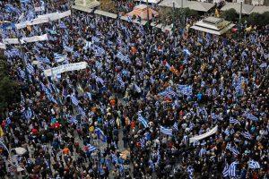 Διεθνή ΜΜΕ για συλλαλητήριο: Γαλανόλευκη παλίρροια