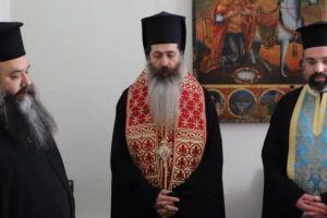Ο Θεσπιών Συμεών ευλόγησε τη Βασιλόπιτα του Γενικού Φιλοπτώχου της Ι.Αρχιεπισκοπής