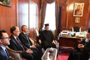 Ο Οικουμενικός Πατριάρχης Βαρθολομαίος δέχθηκε τον Υφυπ. Εξωτερικών του Καναδά