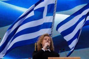 Ο Εθνικός μας Ύμνος στο συλλαλητήριο από τον Πέτρο Γαϊτάνο