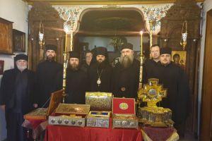 Ιστορικό βήμα: Επίσκοπος της Αυτοκέφαλης Εκκλησίας της Ουκρανίας σε Ιερά Επιστασία και Μονή Εσφιγμένου