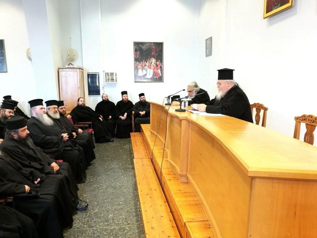 Ο Σεβ. Καισαριανής Δανιήλ, ο κύριος εισηγητής της 2ης Ιερατικής Σύναξης στην Ι. Μητρόπολη Εδέσσης