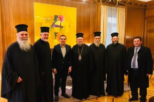 Ο Πρωθυπουργός  δέχθηκε   την αντιπροσωπεία του Οικ. Πατριαρχείου-μία ημέρα μετά την ψηφοφορία στη Βουλή