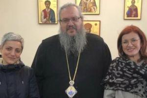 Ο Λαρίσης Ιερώνυμος δέχθηκε τη Διευθύντρια του Γαλλικού Ινστιτούτου κ. Χρύσα Βουλγαράκη
