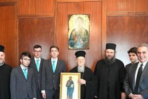 Τελειόφοιτοι της Αθωνιάδος επισκέφθηκαν τον Οικουμενικό Πατριάρχη