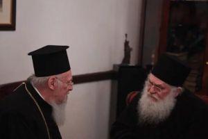 Ο Οικ. Πατριάρχης Βαρθολομαίος απέστειλε επιστολή συμπαθείας και ταχείας αναρρώσεως προς τον ασθενούντα Γέροντα Εφραίμ