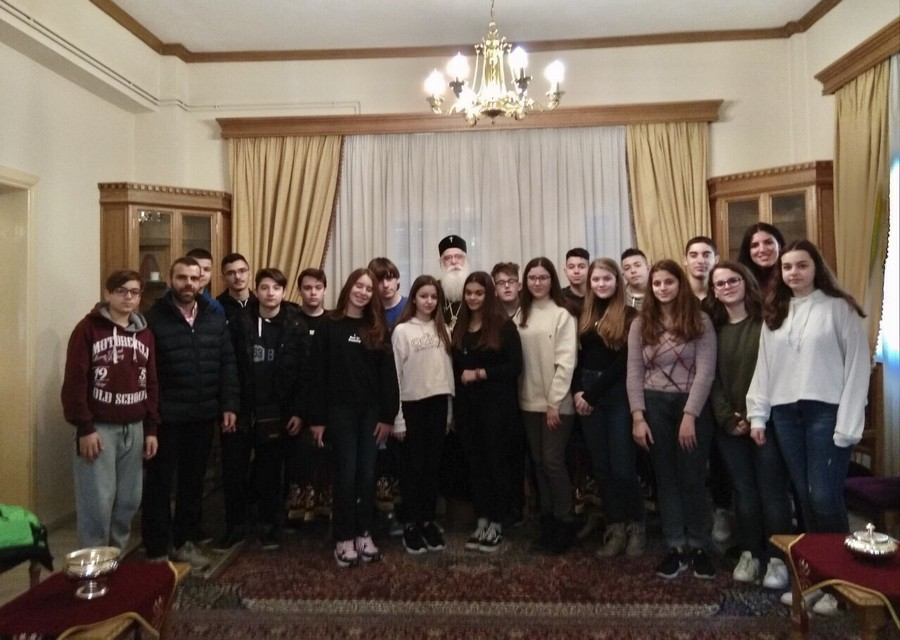 Συνάντηση με μαθητές από τον Πειραιά ο Σεβ.Μητροπολίτης Δημητριάδος