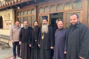 Ο Θεοφ. Θεσπιών Συμεών- Πρωτοσύγκελλος της Ι. Αρχιεπισκοπής-  για πρώτη φορά ως Επίσκοπος στην ενορία που μεγάλωσε  στη Θεσσαλονίκη
