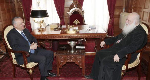 Τον Μανώλη Κεφαλογιάννη δέχθηκε ο Αρχιεπίσκοπος Αθηνών Ιερώνυμος