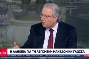 «Καμπανάκι» από Μπαμπινιώτη: Συσσωρεύονται επικίνδυνα ψέματα γύρω από τη λεγόμενη «μακεδονική γλώσσα»