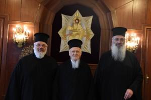 Οι Μητροπολίτες Διδυμοτείχου Δαμασκηνός και Αλεξανδρουπόλεως Ανθιμος στο Φανάρι