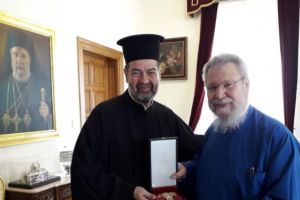 Στον Αρχιεπίσκοπο Κύπρου Χρυσόστομο ο νέος Έξαρχος του Πατριαρχείου Αλεξανδρείας στην Κύπρο