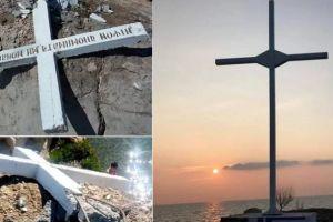 Δεκάδες προσαγωγές στη Μυτιλήνη γιατί έστησαν ξανά το μεγάλο Σταυρό