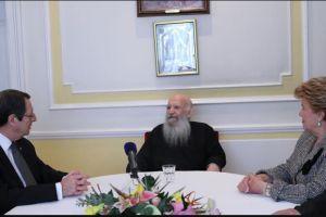 Συνάντηση Προέδρου της Κύπρου με τον Αρχιεπίσκοπο Θυατείρων