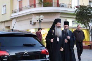 Στον Άγιο Δημήτριο για τον Α ´ Κατανυκτικό εσπερινό,  ο Θεοφ. Επίσκοπος Θεσπιών Συμεών
