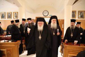 Ξεκίνησε η Ιεραρχία τις εργασίες της στο Μεγάλο Συνοδικό στη Μονή Πετράκη.
