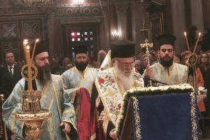Ο Αρχιεπίσκοπος στον Καθεδρικό Ναό Αθηνών για τον Ακάθιστο Ύμνο