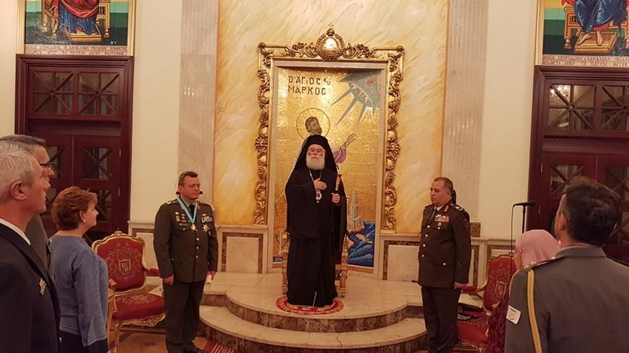 You are currently viewing Ο Πατριάρχης Αλεξανδρείας τίμησε τον Αρχηγό της Εθνικής Φρουράς της Κύπρου