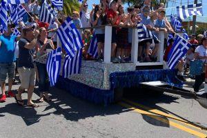 «Γαλανόλευκο» το Τάρπον Σπρινγκς στη Φλώριδα για τον εορτασμό της εθνικής επετείου της 25ης Μαρτίου