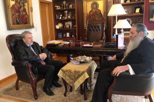 Τον Σεβασμιώτατο Μητροπολίτη Πειραιώς επισκέφθηκε ο υποψήφιος Ευρωβουλευτής κ.Νότης Μαριάς.