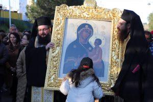 Η Εικόνα της Παναγίας Οδηγήτριας & Ελεούσας του Τιχβίν της Ρωσίας στην Αγία Βαρβάρα