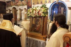 """Υποδοχή της Παναγίας """"Ντινιούς"""" στο Θεολόγο Διρφυών"""