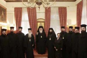 Η διαβεβαίωση ενώπιον του Αρχιεπισκόπου Αθηνών του νέου Επισκόπου Ευρίπου Χρυσοστόμου