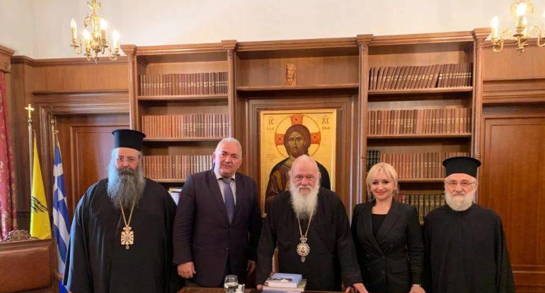 Στον Αρχιεπίσκοπο ο Κίτρους Γεώργιος με τις τοπικές αρχές της Πιερίας – Του ενεχείρισαν πρόσκληση για την εορτή της Αναλήψεως