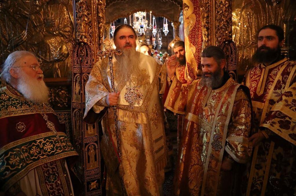 Ο Ευαγγελισμος της Θεοτόκου με το παλαιό και Χειροτονία Διακόνου στην Ι. Μονή Βατοπαιδίου