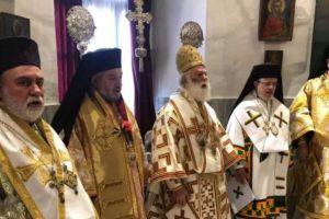 Η ενθρόνιση του νέου Εξάρχου του Πατριαρχείου Αλεξανδρείας στην Κύπρο