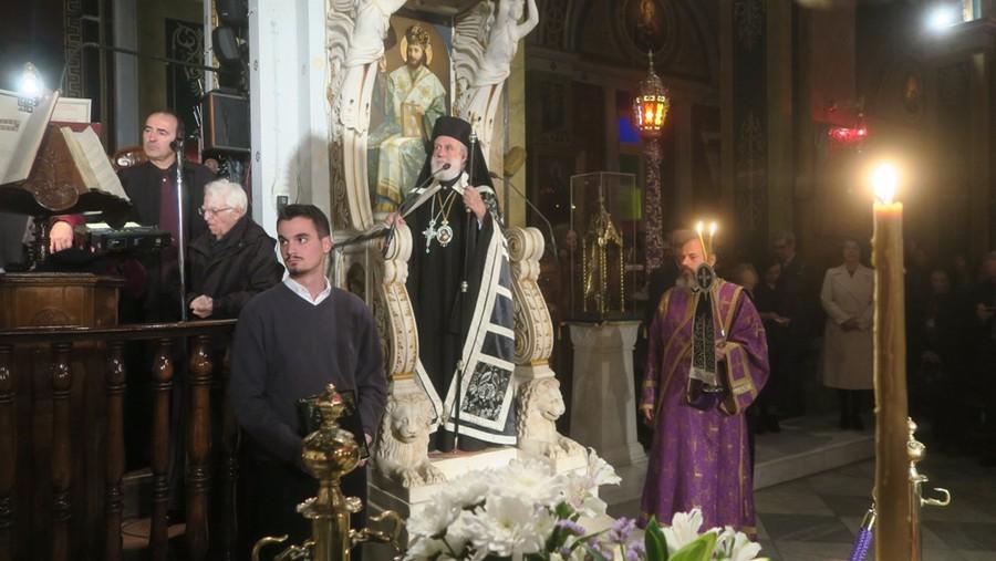 Μεγάλη Τρίτη εσπέρας στον Καθεδρικό Ναό του Πολιούχου της Σύρου Αγ. Νικολάου