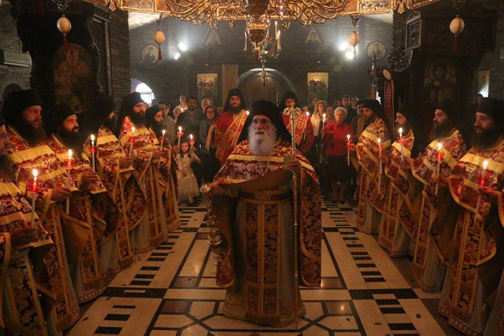Ανάσταση και Εσπερινός της Αγάπης στην Ιερά Μονή Τρικόρφου 2019