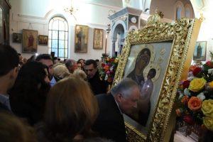 Υποδοχή Παναγίας του Τιχβίν στον Ι.Ν. Αγίας Βαρβάρας Αττικής