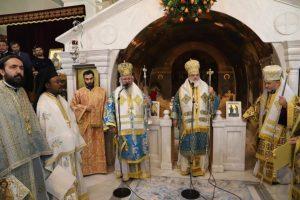 Λαμπρό Πολυαρχιερατικό Συλλείτουργο στο Προσκύνημα της Αγίας Βαρβάρας επί τη ελεύσει της Παναγίας Οδηγητρίας και Ελεούσης του Τιχβίν της Ρωσίας