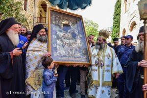 Η εορτή της Παναγίας της Πορταϊτίσσης, στην Ι.Πατριαρχική  Μονή των Ιβήρων Αγίου Όρους  από τον Σεβ. Λαγκαδά Ιωάννη