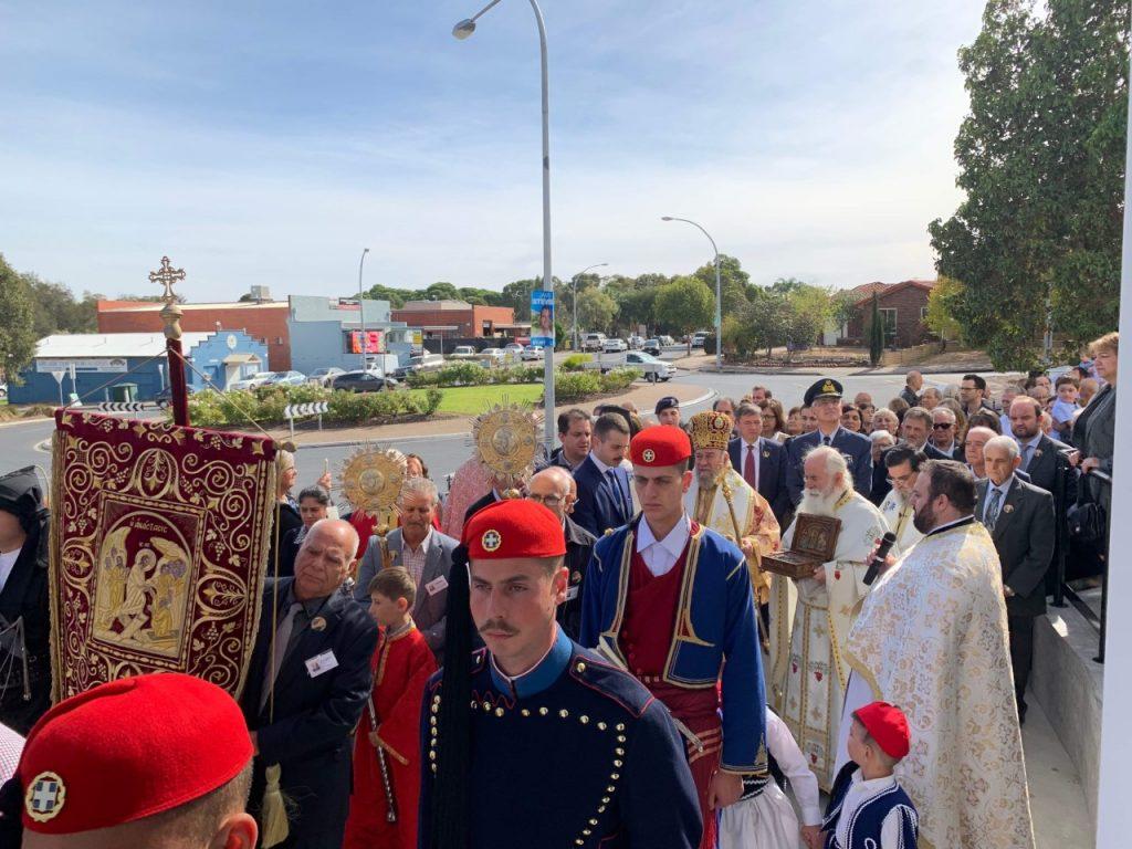 Η εορτή των νεοφανών αγίων Ραφαήλ, Νικολάου και Ειρήνης  εορτάστηκε γιά πρώτη φορά στό Athelstone της Αδελαΐδος στην Αυστραλία