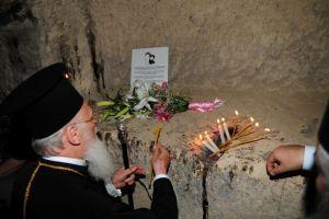 Ο Οικ. Πατριάρχης στον τόπο που ασκήτεψε ο Αγ. Ιωάννης ο Ρώσος