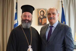 Συνάντηση με τον Υφ. Εξωτερικών είχε ο Αρχιεπίσκοπος Αυστραλίας Μακάριος