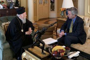 Με δύο σημαντικές συναντήσεις με Γαβρόγλου και Πάιατ, ολοκληρώθηκε σήμερα η  επίσκεψη  του Οικουμενικού Πατριάρχη Βαρθολομαίου στην Αθήνα