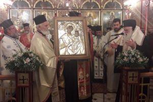 Σε κλίμα κατάνυξης η Απόδοση της εορτής τής Παναγίας Τρυπητής στο Αίγιο