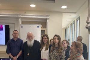 """Σε εκδήλωση του """"Καρέλλειου"""" για την άνοια, στη γενέτειρά του τα Οινόφυτα ο Αρχιεπίσκοπος"""