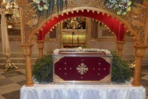 Λειτουργία επί των Ιερών Λειψάνων του Αγίου Ισιδώρου από τον Χίου Μάρκο